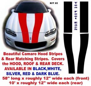 tapered camaro racing stripes