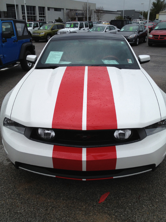 2012 2013 Mustang Racing Stripes