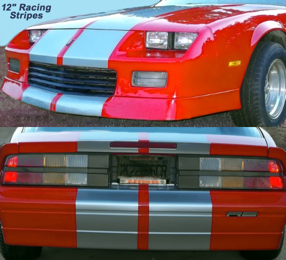 12 inch camaro racing stripes