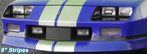 "8"" camaro racing stripes"