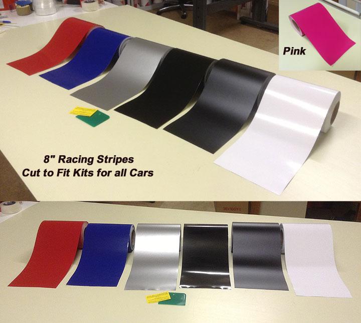 "8"" camaro racing stripes"