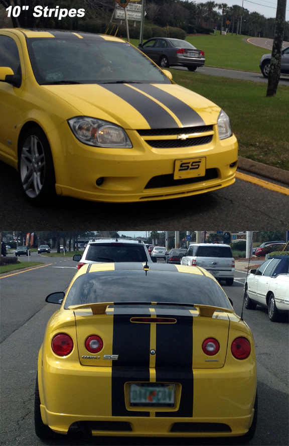 chevrolet cobalt 6 8 10 racing stripes automobile. Black Bedroom Furniture Sets. Home Design Ideas