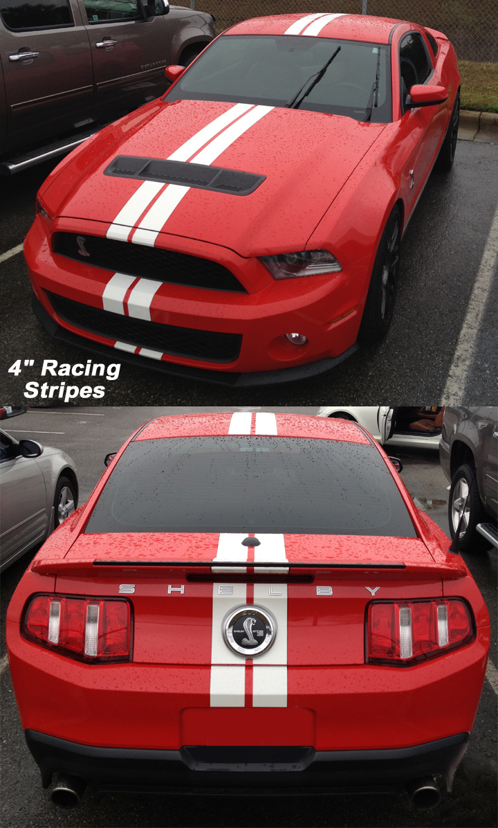 4 inch mustang racing stripes